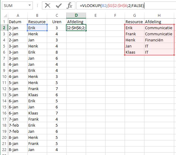 Citaten Zoeken Excel : Projectsucces excel tip verticaal zoeken