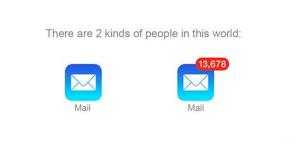 er zijn twee type mensen e-mail inbox overload meme